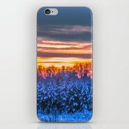 Magic winter sunset iPhone Skin