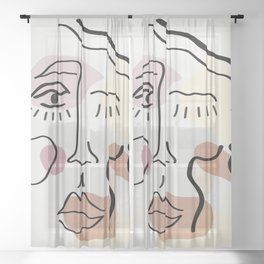 With A Wink - Women Empowerment Sheer Curtain