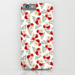 Holly Jolly Floral iPhone Case