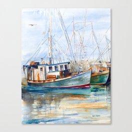 Fishing Boats (Namaste) Canvas Print