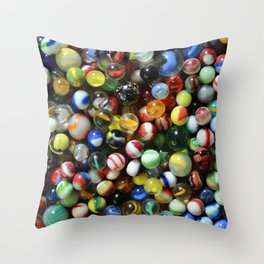 Vintage Marbles Throw Pillow