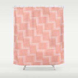 Herringbone .carrot Shower Curtain