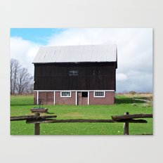 Barn on the Ridge Canvas Print