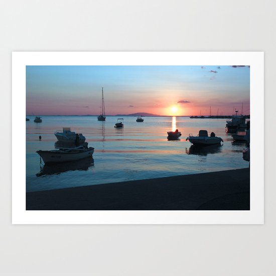Little Port of Croatia Art Print