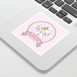 cat unicorn caticorn cute kids gift Sticker