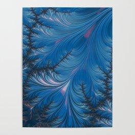 Winter Dusk - Fractal Art Poster