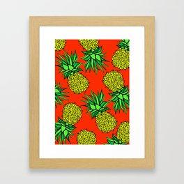 Pineapple Madness Framed Art Print