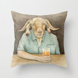 Goat Dad Throw Pillow