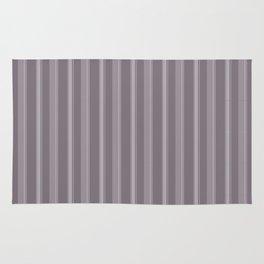 Modern Geometric Pattern 9 in Aubergine Stripes Rug