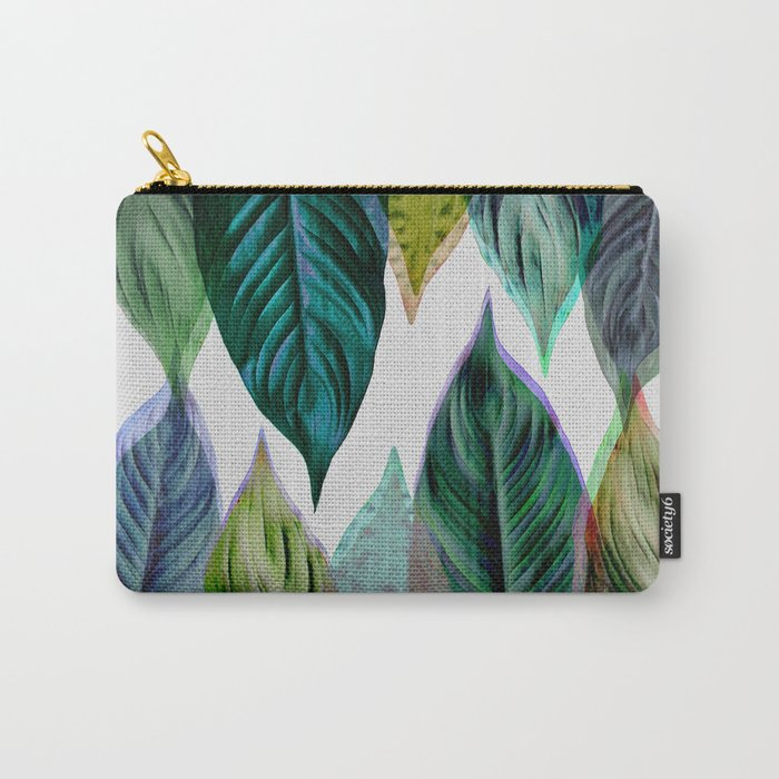 Green Leaves Carry-All Pouch