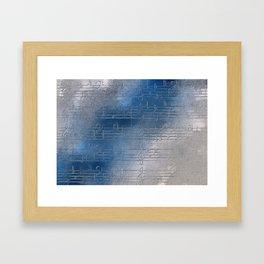Silver music Framed Art Print