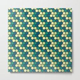green honeycomb pattern Metal Print