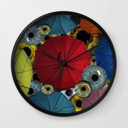 Hallelujah It's Raining' Eye Wall Clock