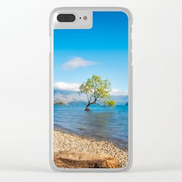 Clear blue morning at Lake Wanaka, New Zealand Clear iPhone Case