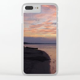 Serenity sunset Clear iPhone Case