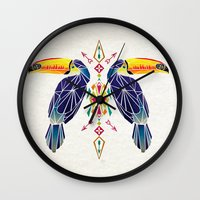 toucan Wall Clocks featuring toucan by Manoou