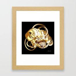 Fractal Christmas Ribbon Framed Art Print