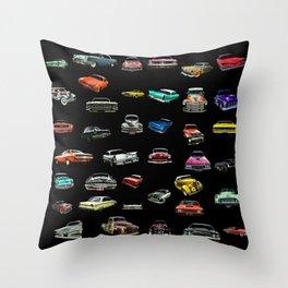 Car Cluster Throw Pillow