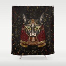 Bastet Egyptian Goddess Shower Curtain