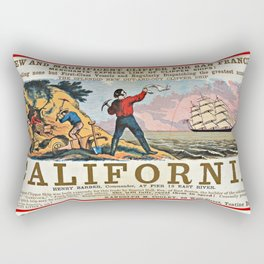 A NEW AND MAGNIFICENT CLIPPER FOR SAN FRANCISCO. MERCHANT'S EXPRESS LINE OF CLIPPER SHIPS! Rectangular Pillow