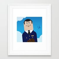 airplane Framed Art Prints featuring Airplane by Brettmatic