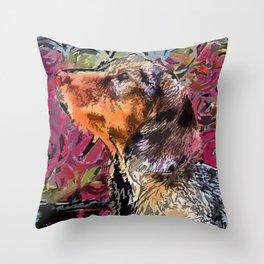 """""""Cucciolo di Graffito"""" ~ Dachshund, Weiner Dog, Doxie, everywhere! Throw Pillow"""