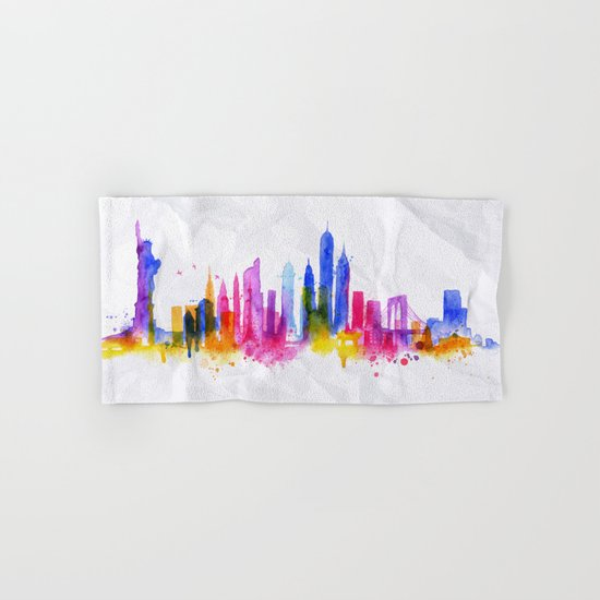 Color New York Skyline 01 Hand & Bath Towel