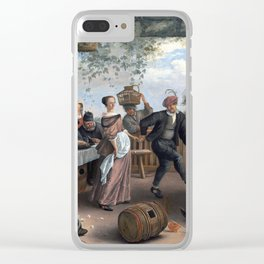 Jan Steen The Dancing Couple Clear iPhone Case