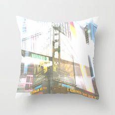 SF to NY Throw Pillow