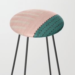 Anthropologie Traditional Moroccan Style Pink Texture (N28) Counter Stool