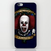 "pennywise iPhone & iPod Skins featuring ""Don't you want a ballon?"" by Gabriela Ash Illustrations"