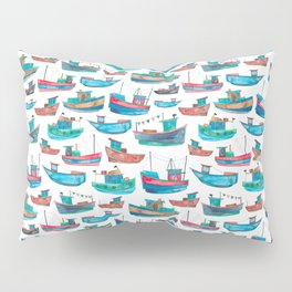 Fishing Boats Pillow Sham