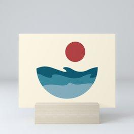 Roaring Waves of the Sea Mini Art Print