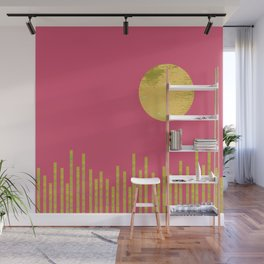 Yellow Moon Rising Wall Mural