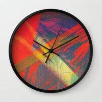 splatter Wall Clocks featuring Splatter by Art of the Glitch