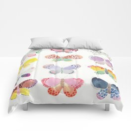 Painted butterflies Comforters