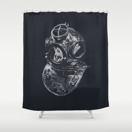 Macaque Diver Shower Curtain