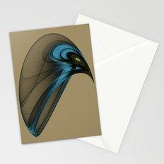 Fractal Bird with Sharp Beak Stationery Cards