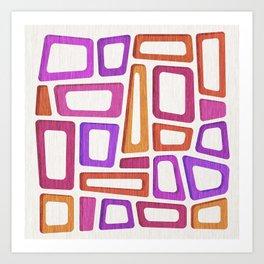 Tiki Mid Century Abstract Art Print