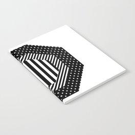 Geometric - Hexagon, Black Mixed Pattern 2 Notebook