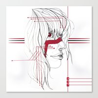 tribal Canvas Prints featuring TRIBAL by ARCHIGRAF