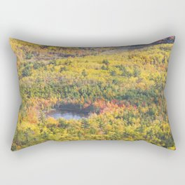 Fall Landscape With Pond  Acadia National Park on The Coast Of Maine Rectangular Pillow