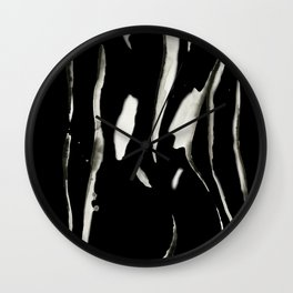 White on Black Nude No.2 Wall Clock
