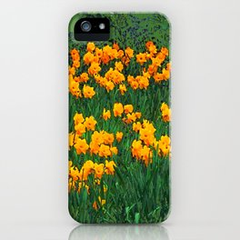 GREEN GARDEN OF YELLOW SPRING DAFFODILS iPhone Case