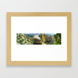 Desert Above Tuscon, Arizona Framed Art Print
