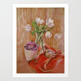 White tulips_2 Art Print