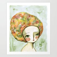 The Muse Of Autumn Art Print