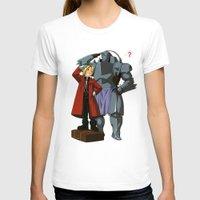 fullmetal alchemist T-shirts featuring Alchemist of Steel by CromMorc
