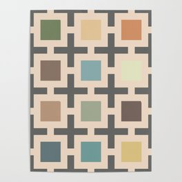 60s vintage geometrical square  Poster