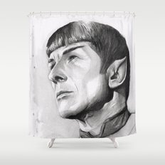 Star Trek Spock Portrait Shower Curtain